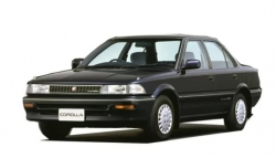 Автомобильные коврики EVA Toyota Corolla E90 седан, правый руль (1987-1991)