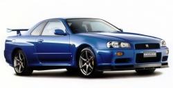 Автомобильные коврики EVA Nissan Skyline R34, правый руль (1998-2002)